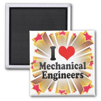 I Love Mechanical Engineers Magnet