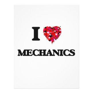 """I Love Mechanics 8.5"""" X 11"""" Flyer"""