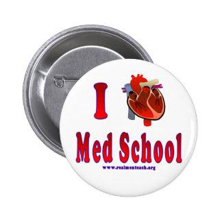 I Love Med School Pinback Button