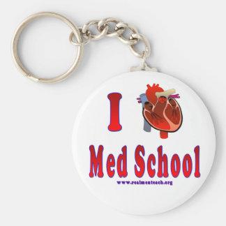 I Love Med School Keychains