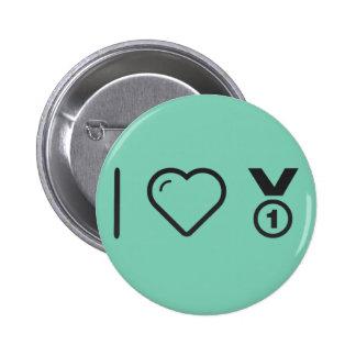 I Love Medals 2 Inch Round Button
