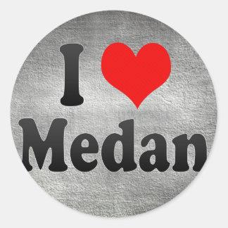 I Love Medan, Indonesia. I Cinta Medan, Indonesia Classic Round Sticker