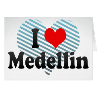 I Love Medellin, Colombia Cards