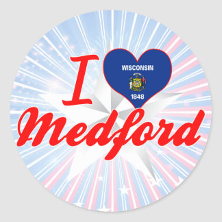 I Love Medford, Wisconsin Classic Round Sticker