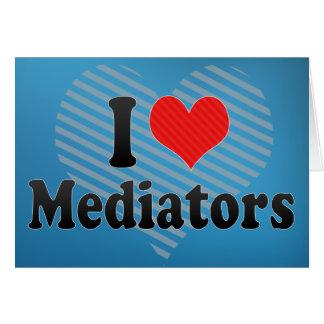 I Love Mediators Greeting Cards