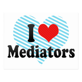 I Love Mediators Postcard
