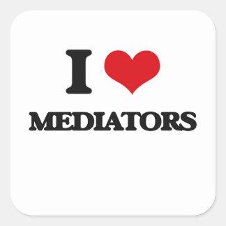I Love Mediators Square Stickers