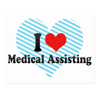 I Love Medical Assisting Postcard
