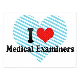 I Love Medical Examiners Postcard