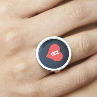 I Love Medical Research Design Ring