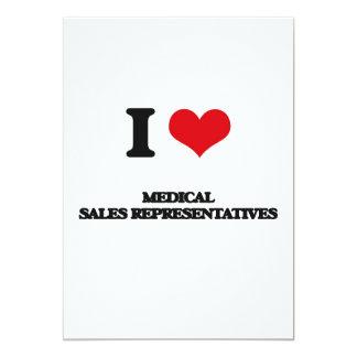 I love Medical Sales Representatives 5x7 Paper Invitation Card