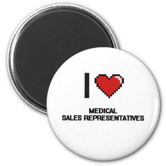 I love Medical Sales Representatives 2 Inch Round Magnet