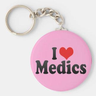 I Love Medics Basic Round Button Keychain