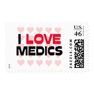 I LOVE MEDICS POSTAGE STAMP
