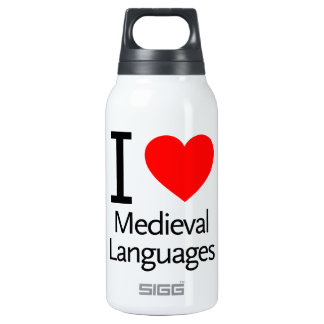 I Love Medieval Languages 10 Oz Insulated SIGG Thermos Water Bottle