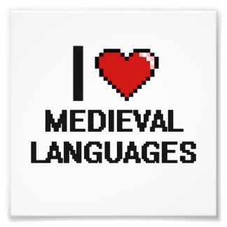 I Love Medieval Languages Digital Design Photo Print