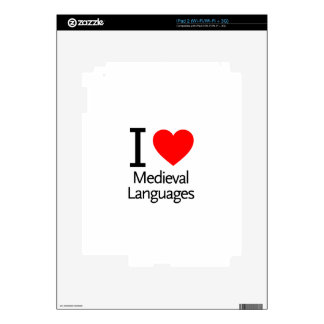 I Love Medieval Languages Skin For iPad 2
