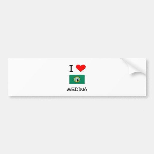 I Love Medina Washington Bumper Sticker