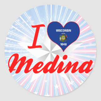 I Love Medina, Wisconsin Classic Round Sticker