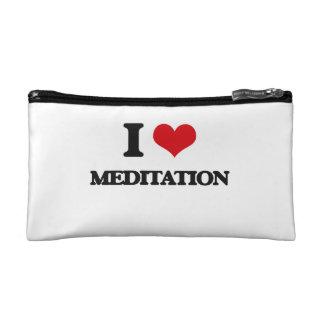 I Love Meditation Makeup Bags