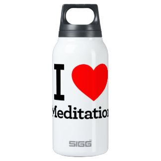 I Love Meditation Insulated Water Bottle