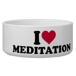 I love Meditation Dog Water Bowl