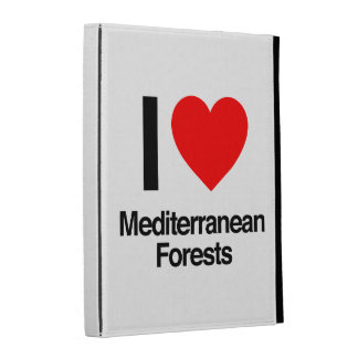 i love mediterranean forests iPad cases