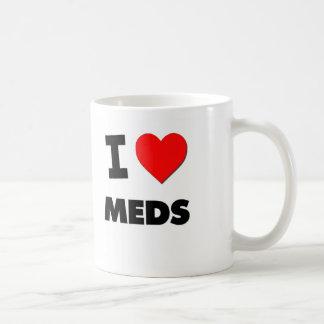 I Love Meds Coffee Mugs