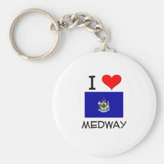 I Love Medway Maine Keychains