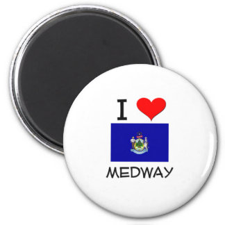 I Love Medway Maine 2 Inch Round Magnet