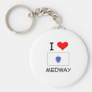 I Love Medway Massachusetts Key Chains