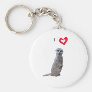 I love Meerkats Basic Round Button Keychain