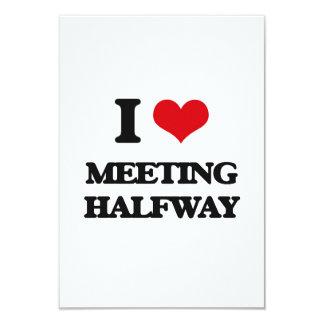 I Love Meeting Halfway 3.5x5 Paper Invitation Card