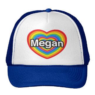I love Megan I love you Megan Heart Mesh Hats