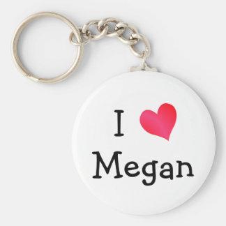 I Love Megan Key Chain
