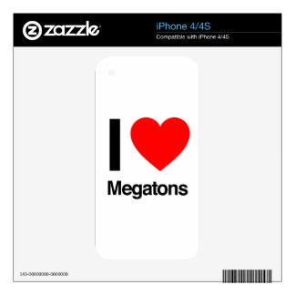 i love megatons skins for iPhone 4
