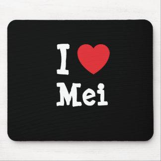I love Mei heart T-Shirt Mouse Pad