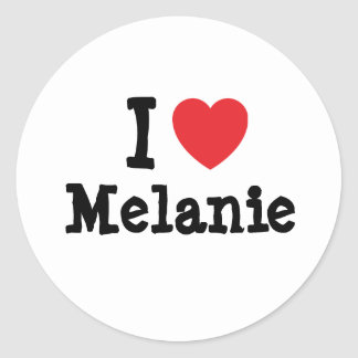 I love Melanie heart T-Shirt Classic Round Sticker
