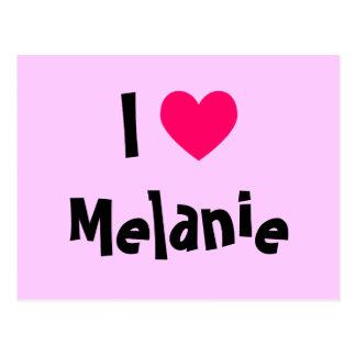 I Love Melanie Postcard