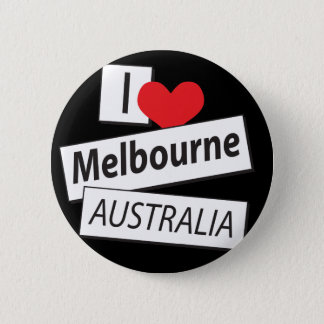 I Love Melbourne Australia Pinback Button