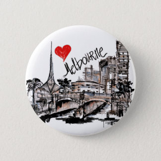 I love Melbourne Pinback Button