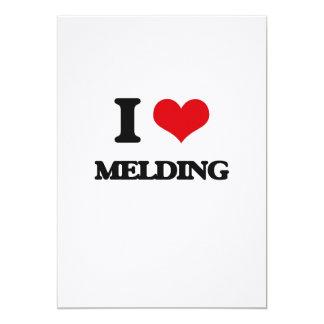 I Love Melding 5x7 Paper Invitation Card