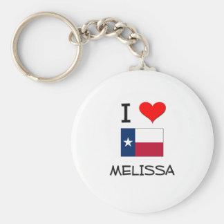 I Love Melissa Texas Keychain