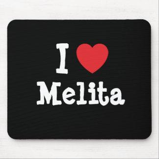 I love Melita heart T-Shirt Mouse Pads