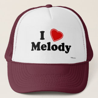 I Love Melody Trucker Hat