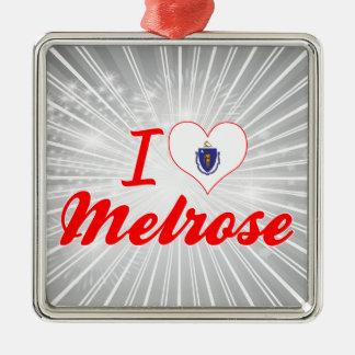 I Love Melrose, Massachusetts Christmas Ornament