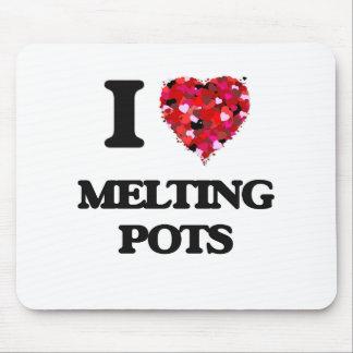 I Love Melting Pots Mouse Pad