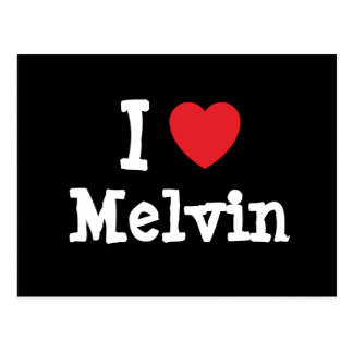 I love Melvin heart custom personalized Post Cards