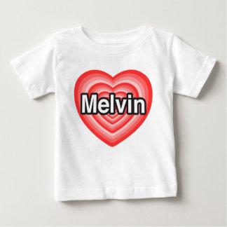 I love Melvin. I love you Melvin. Heart Baby T-Shirt
