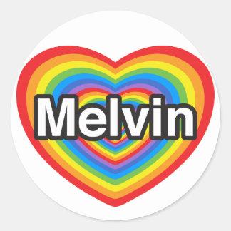 I love Melvin. I love you Melvin. Heart Classic Round Sticker